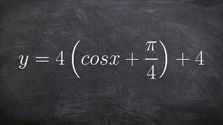 pre calculus learning to graph cosine with multiple transformations y 4 cos x π 4 4