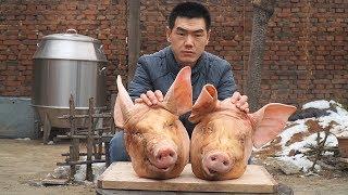 【食味阿远】阿远帮朋友压猪头肉,剔完骨再压一晚上,切片蘸醋吃,有嚼劲 | Shi Wei A Yuan