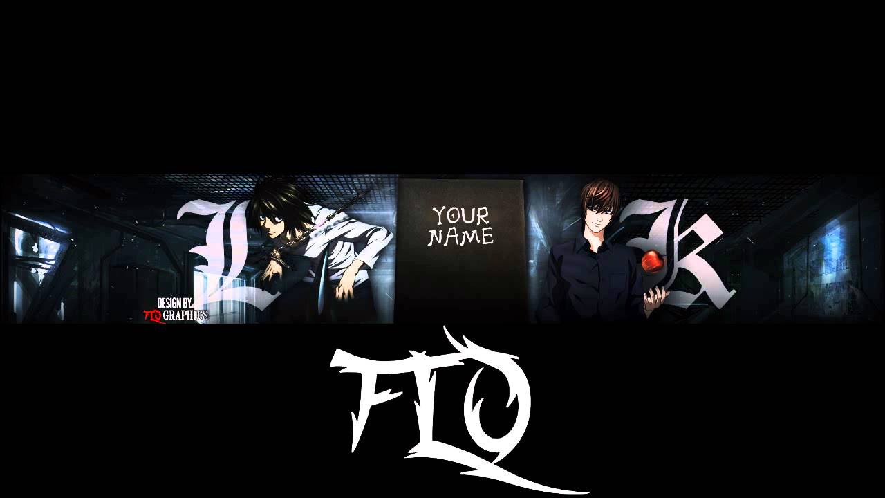 death note anime banner template 16 youtube
