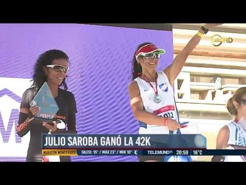 Maratón de Montevideo (42k - 21k, Uruguay, 23/abr/2017): video resumen Telemundo