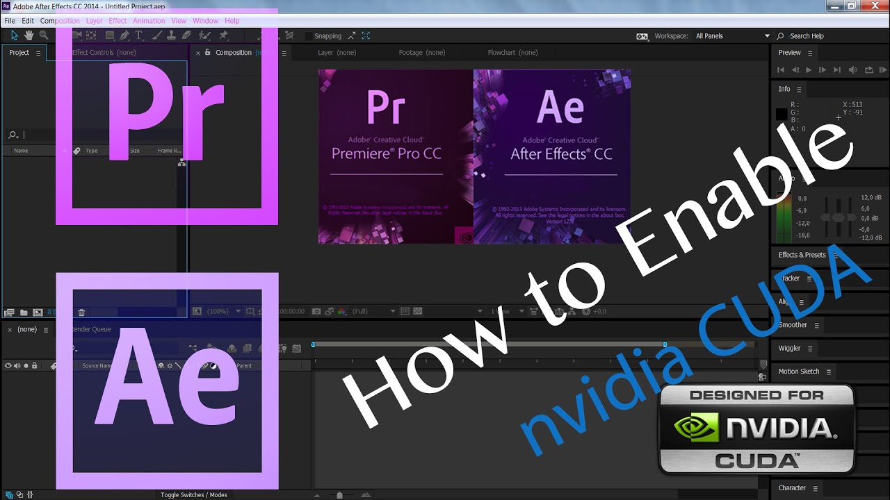 How to enable nvidia cuda for Premiere Pro and After Effects Mac/Win