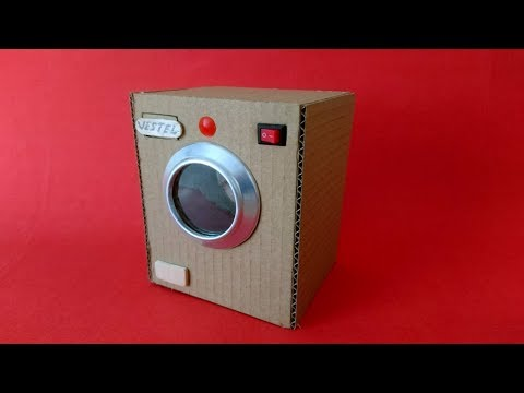 How to Make Washing Machine from Cardboard - Mini Çamaşır Makinesi Nasıl Yapılır