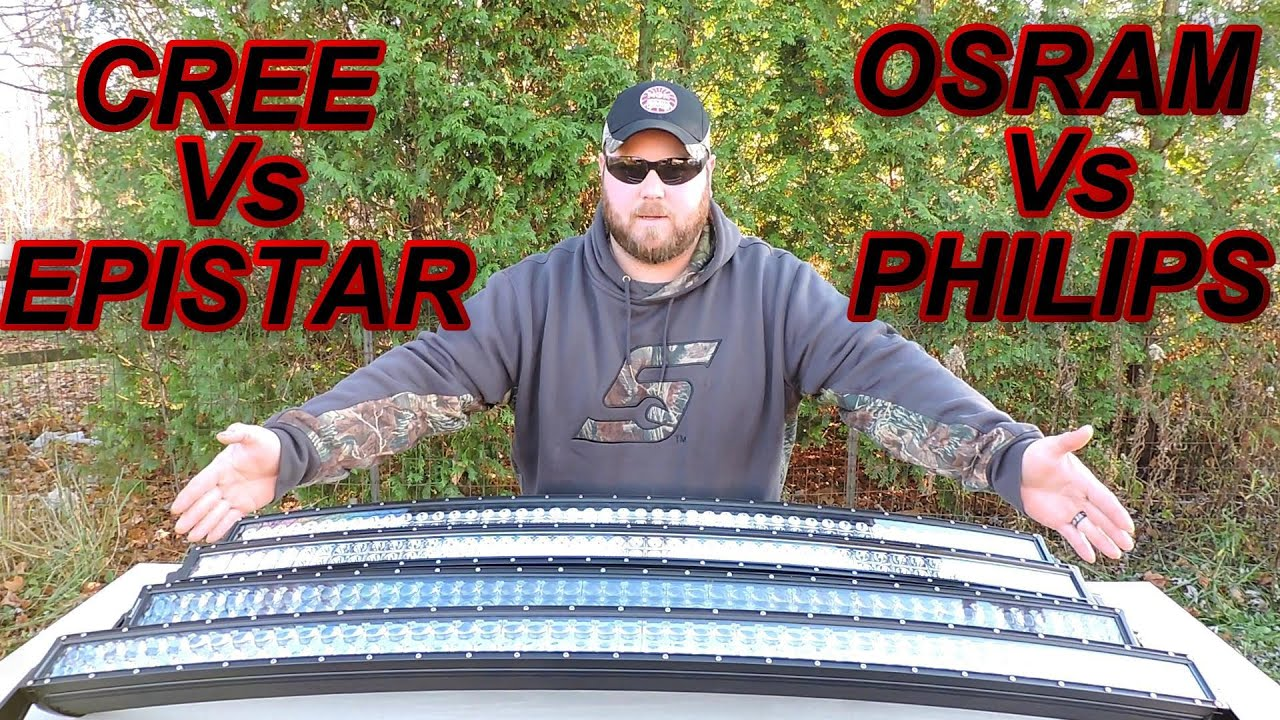 50 Quot Led Light Bar Showdown Cree Epistar Osram Philips