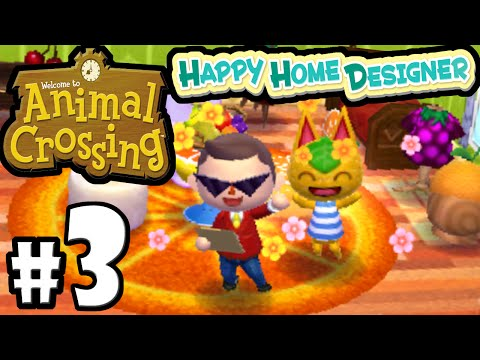 Animal Crossing Happy Home Designer PART 3 Gameplay Walkthrough (DAY 4 & 5 Ribbot & Tangy) 3DS