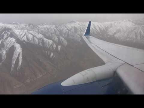 4K   Impressive Turbulence into Salt Lake City - uncut