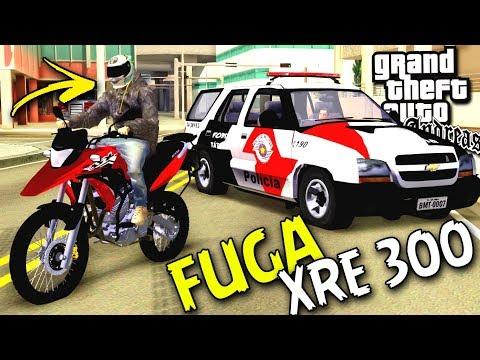 FUGA COM A XRE 300 DO LINCON DETONA - GTA SAN ANDREAS - DS GAMEPLAYS