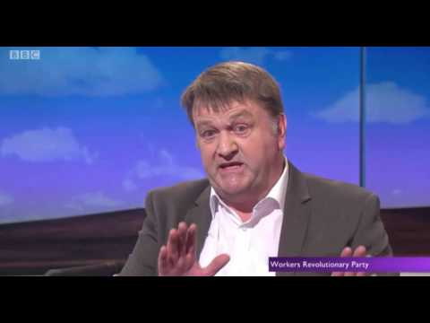 The Workers Revolutionary Party march on the Daily Politics