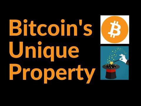 Bitcoin's Unique Property