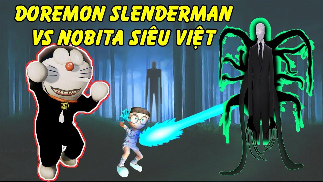 GTA 5 - Tổng hợp Đôrêmon Slenderman bị hại cầu cứu Nobita người máy siêu việt   GHTG