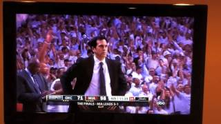Proof of Refs Cheating for the Miami Heat in NBA Finals 2012 high five with ref