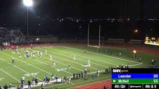 High School Football - Leander Lions vs. McNeil Mavericks - 10/18/2018
