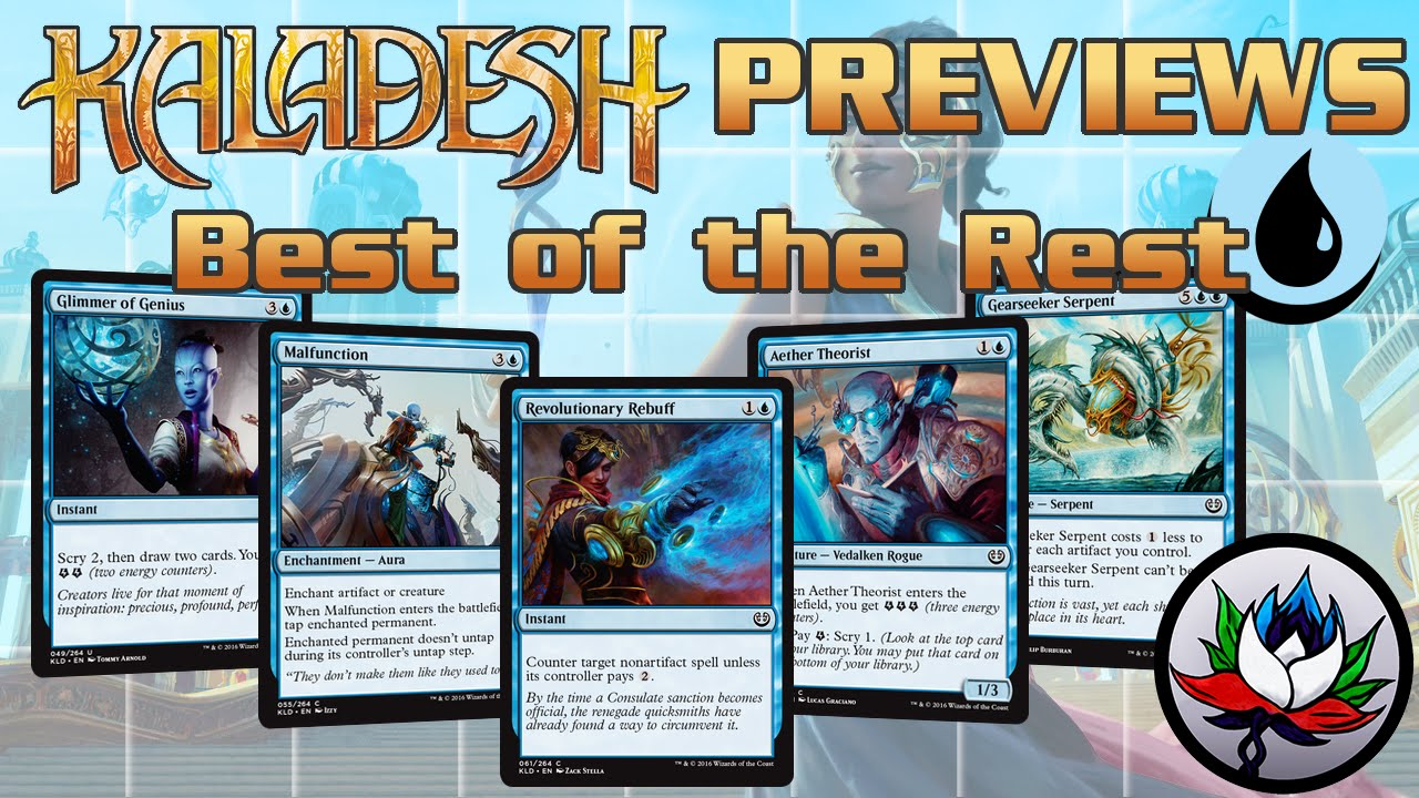 kaladesh spoilers best of the rest set review part 2 blue youtube