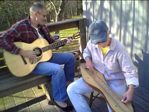 Ridin' The Zigzag & Wobble Railroad on lap dulcimer played in noter/drone style and guitar