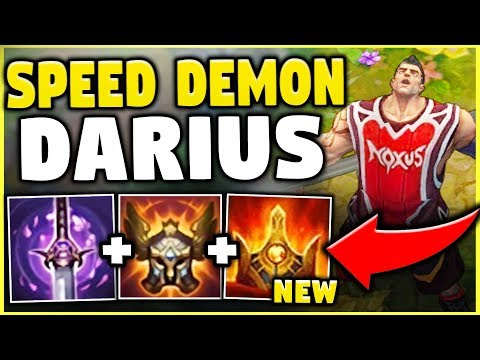 NOBODY CAN ESCAPE DARIUS WITH THIS NEW ITEM! THE FASTEST DARIUS BUILD! - League Of Legends