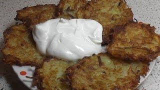 Вкусные хрустящие драники картофельные