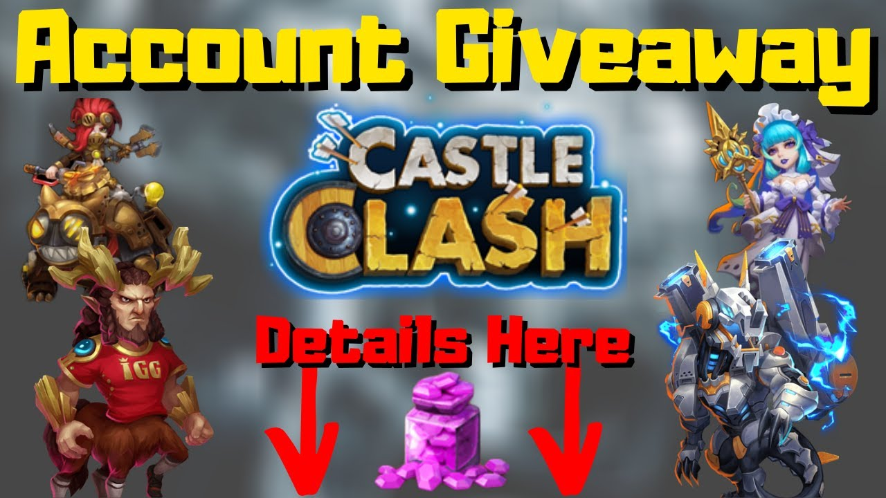 1 Million Might Account Giveaway Breakthrough 35 Heroes Castle Clash Asg Youtube