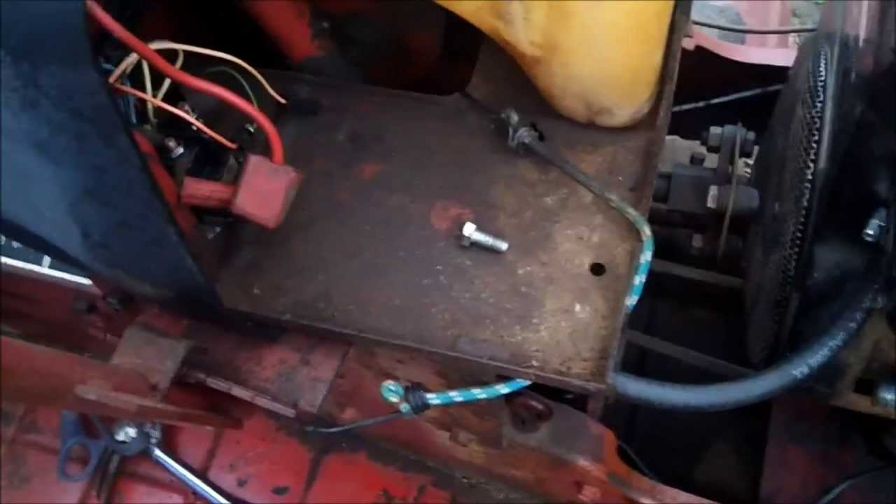 maxresdefault put the solenoid on the 1984 snapper 1t11 tractor part 2 youtube snapper solenoid wiring diagram at webbmarketing.co