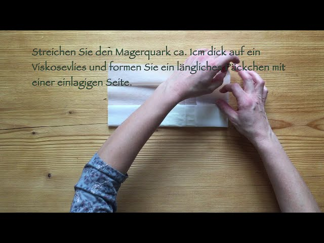 Quarkwickel / Quark - Halswickel