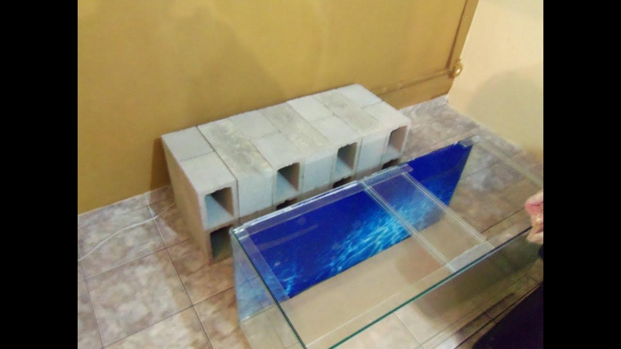 cama de bloco de vidro