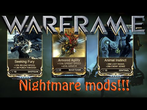 Warframe Hotfix 16102 Nightmare Mods Yummy YouTube
