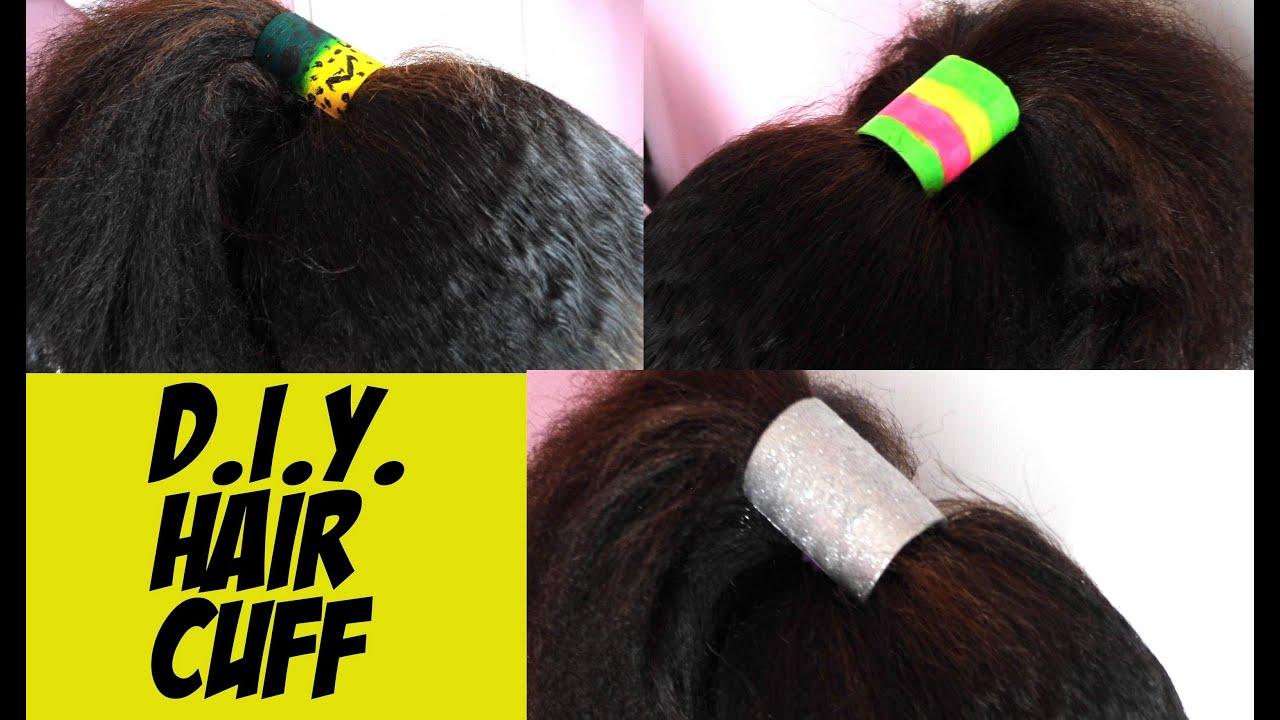 DIY Hair Cuffs Super Easy YouTube - Ponytail cuff diy