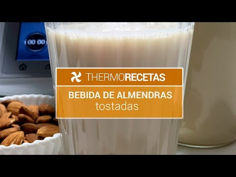 Bebida de almendras tostadas Thermomix