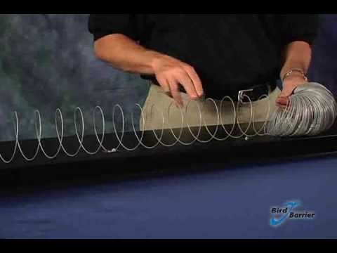Installing Bird Barrier Bird-Coil - YouTube