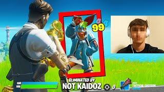 I Stream Sniped A HACKER until he DELETED Fortnite...