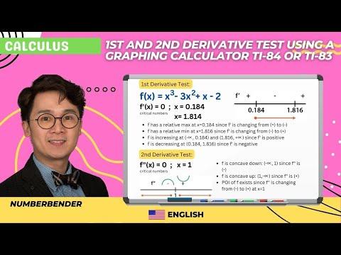 Calculus - 1st And 2nd Derivative Test Using A Calculator TI-84 Or Ti-83