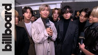 BTS Want to Collaborate with Ariana Grande, Talk 'Map of the Soul: 7' & More! | Grammys