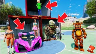 - DON T CHOOSE THE WRONG CONTAINER WITHERED FREDDY LUCKY CONTAINERS GTA 5 Mods FNAF Kids RedHatter