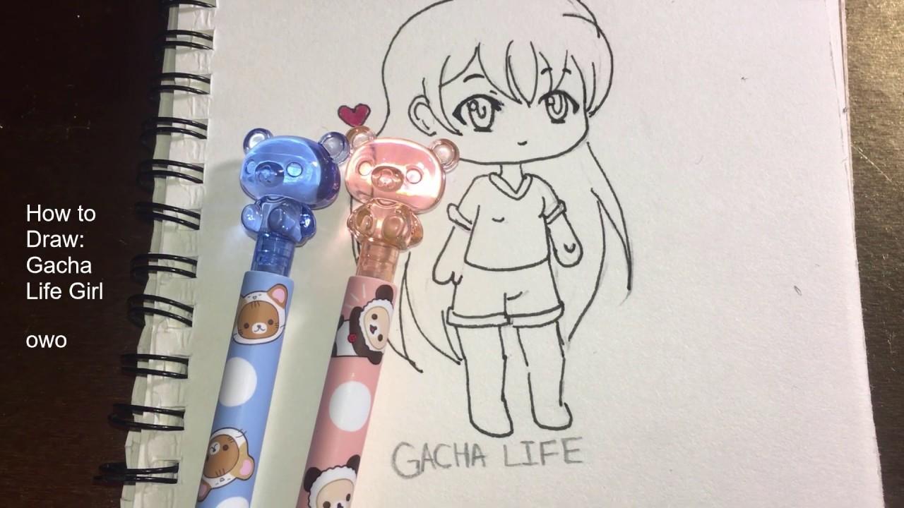 How to sketch a gacha life girl base