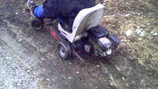 Wheelies On Homemade Barstool/go Kart And Crash