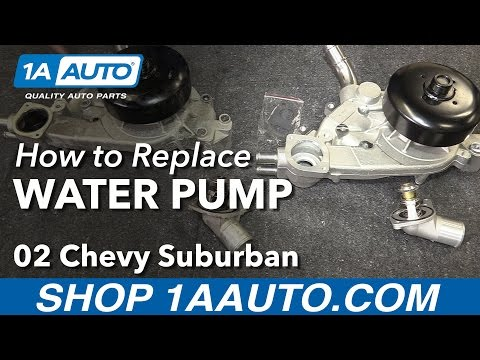 How to Install Replace Water Pump 2000-03 V8 5.3L Chevy Suburban 1500 LM7 LS