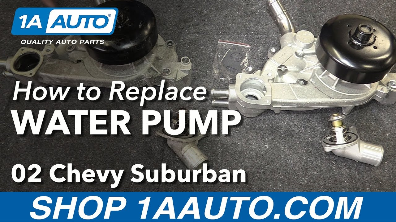medium resolution of how to install replace water pump 2000 03 v8 5 3l chevy suburban 1500 lm7 ls