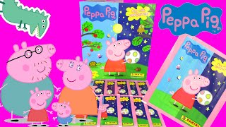 PEPPA PIG ENGLISH Collectible Panini Sticker Album Play with Opposites TOYS Video Review