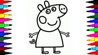 drawing coloring pages kid pig peppa colors learn getdrawings