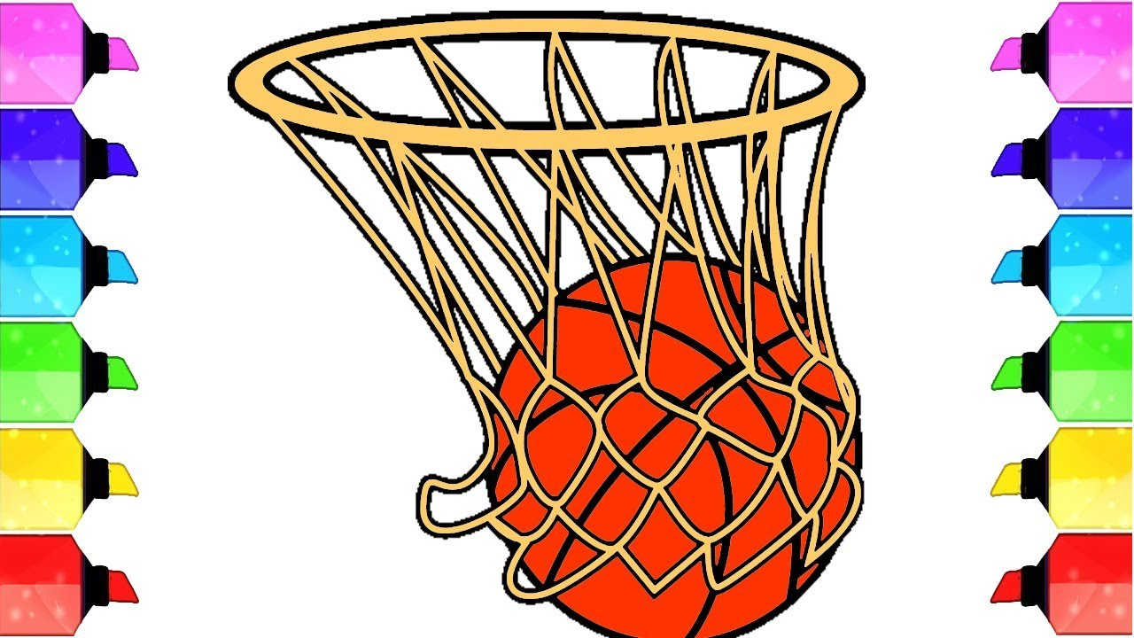 How To Draw A Realistic Basketball Draw A Cute Basketball Easy Draw A Basketball And Hoop Youtube