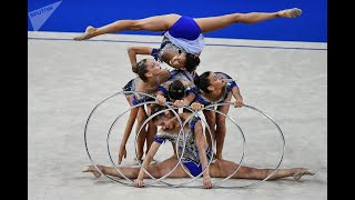 Групповые упражнения с обручем девочки .Шелехов 2017 год