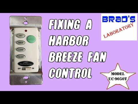 Harbor Breeze Fan Controller - YouTube on