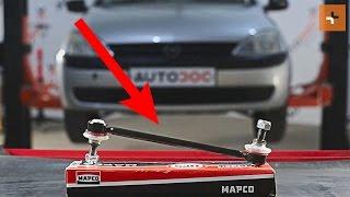 Installazione Asta puntone stabilizzatore posteriore e anteriore OPEL CORSA: manuale video