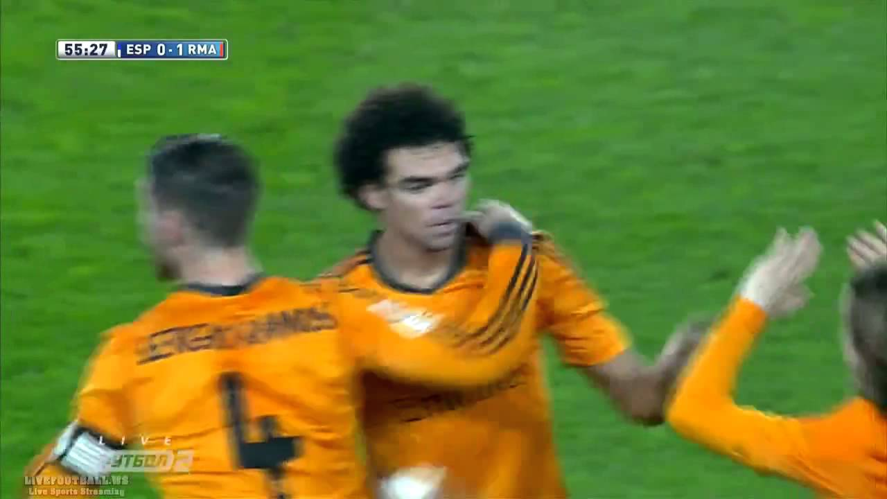 Espanyol Vs Real Madrid 0 1 Goal Pepe Full Match