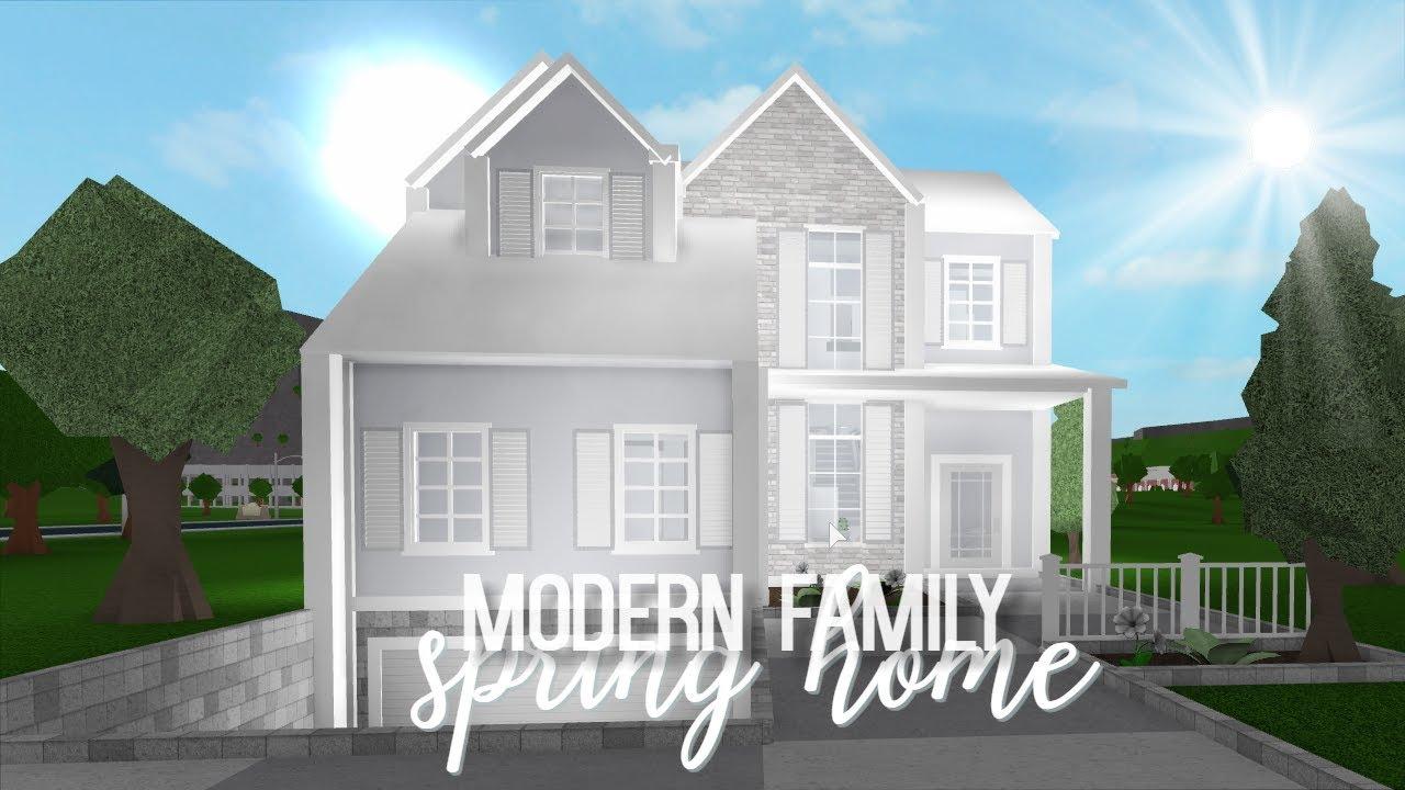 Bloxburg Modern Family Spring Home 53k Youtube