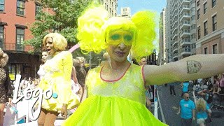 360 View of RuPaul's All Stars Drag Race Queens at NYC Pride Parade | Logo