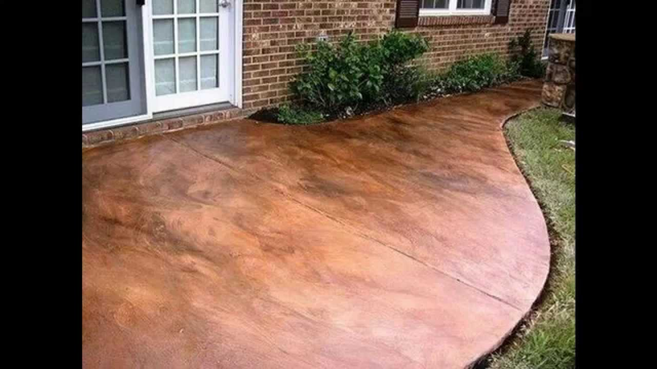 Creative Stained concrete patio decorating ideas - YouTube