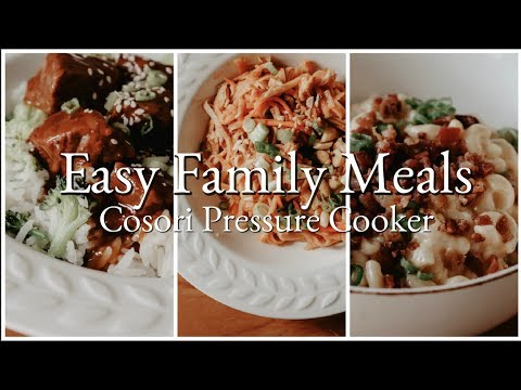 3 Easy Family Week-Night Meals Using the Cosori Pressure Cooker