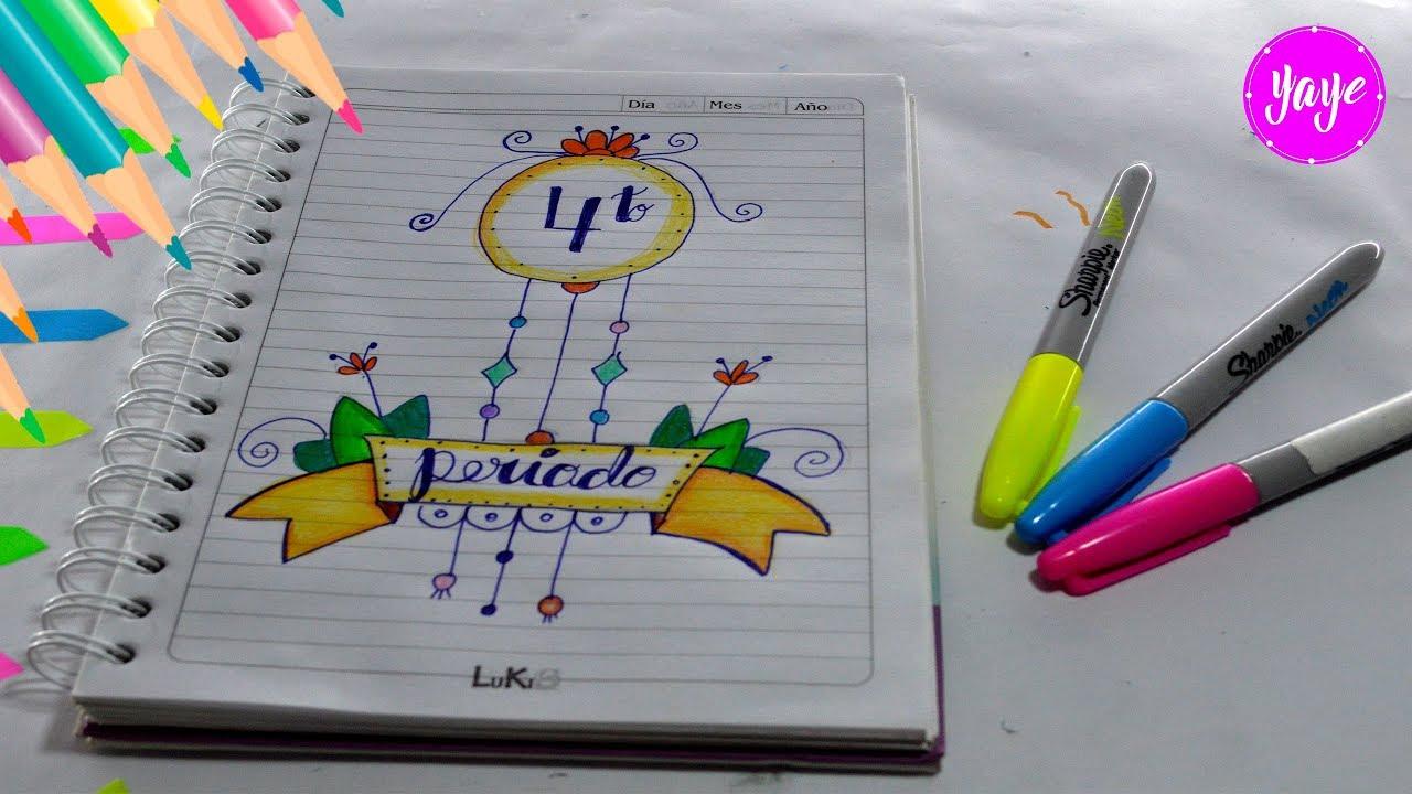 IDEAS PARA MARCAR CUADERNOS Letra Lettering Cómo dibujar cuarto Periodo YouTube