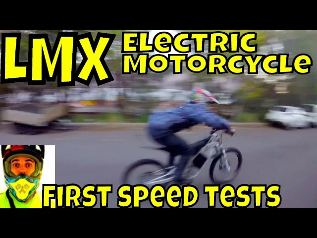 72v LMX Electric Motorcycle • First speed tests, car park quick session... sorry neighbours!!
