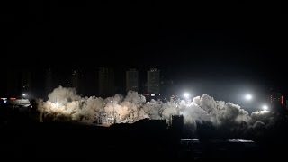 19 Buildings Demolished by Blasts at One Time in central China City(A total of 19 buildings in Wuhan's downtown area were demolished by five tons of explosives at one-time in only 10 seconds from 11:50 p.m. Saturday in central ..., 2017-01-22T07:45:59.000Z)