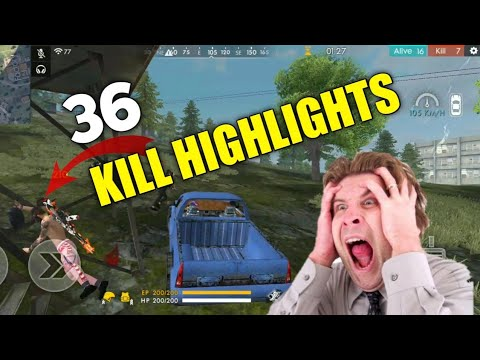 FREE FIRE || SOLO VS SQUAD 36 KILL HIGHLIGHTS | GAMEPLAY HIGHLIGHTS !!